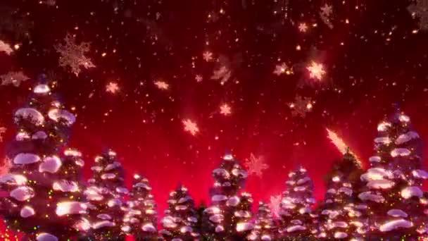 Vánoční stromeček a sníh (animační smyčka)