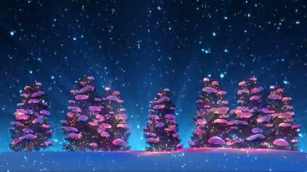Karácsonyfák és Snow (animáció loop)