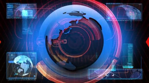 Globální Novinky mediální technologie grafické animace pozadí