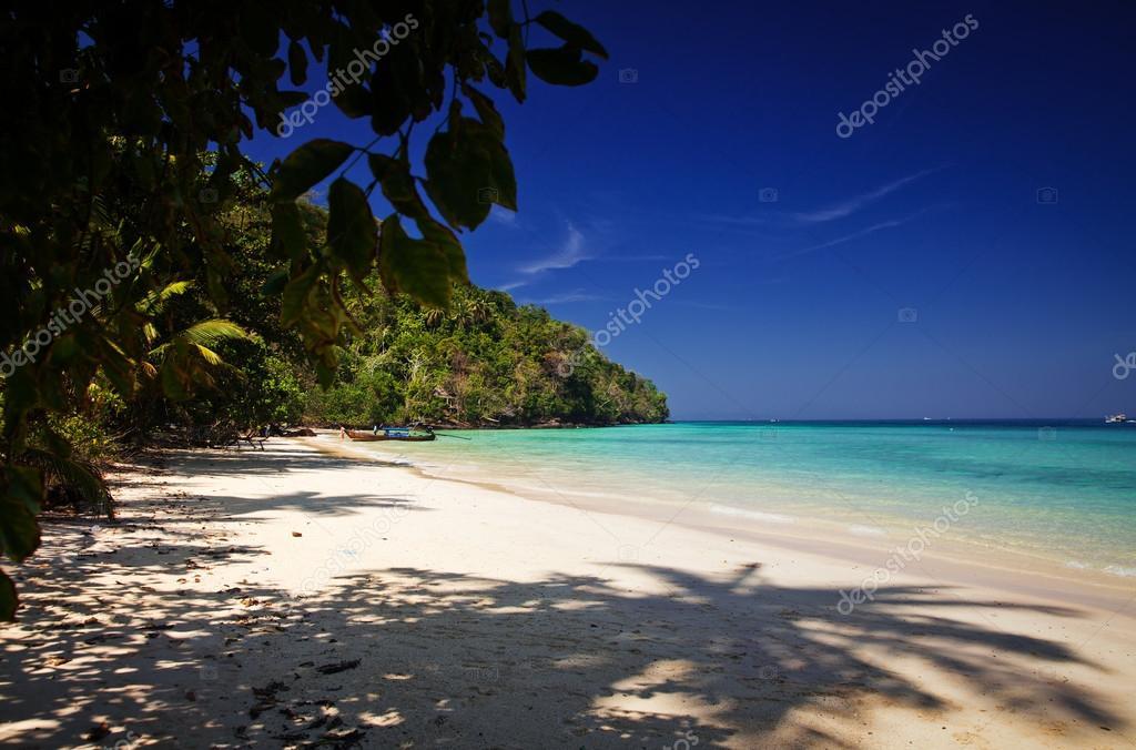 Untouched tropical beach, Thailand