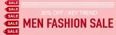 červené etikety téměř 30 procent sleva, klíčový trend, pánské módní prodej nápisy na růžové, banner