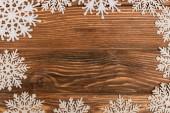tetejére kilátás téli hópelyhek fa háttér