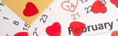 obálka se srdcem v únorovém kalendáři, banner