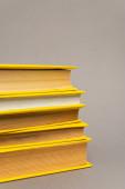 halom sárga notebook elszigetelt szürke
