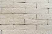 white brick wall textured surface background, top view