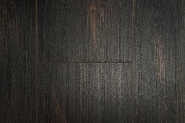 Background of dark brown wooden flooring, top view stock vector