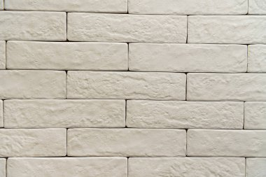 White brick wall textured surface background, top view stock vector