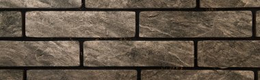 Grey brick wall, textured background, top view, banner stock vector