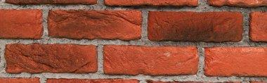 Terracotta bricks textured background, top view, banner stock vector