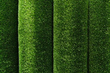 Green, artificial grass textured background, top view stock vector
