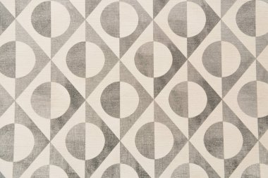 Grey and white, abstract pattern background, with circles and lines, top view stock vector