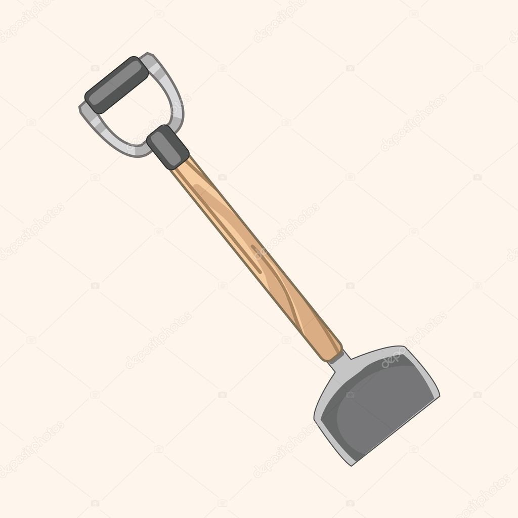 Elementos de tema de pala de jardiner a vector de stock for Elementos de jardineria