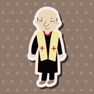 Pastor and nun theme elements vector,eps stock vector
