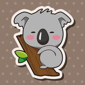 Tier Koala Cartoon Thema Elemente
