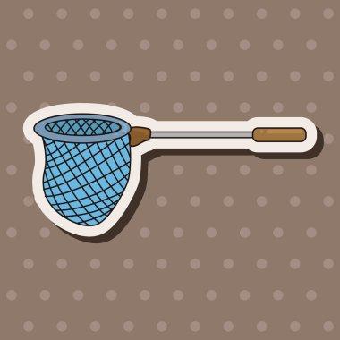 Fishing nets theme elements