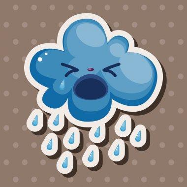 weather rainy day theme elements