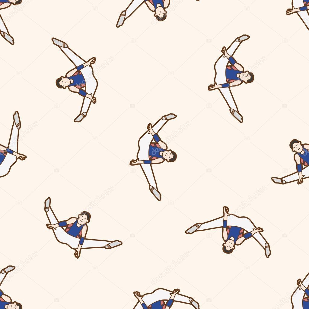 Gymnastika Kresleny Vzor Bezesve Pozadi Stock Vektor C Mocoo2003