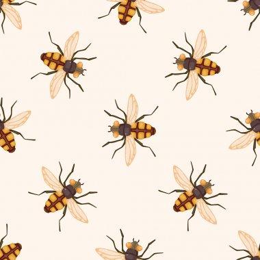 bug cartoon , cartoon seamless pattern background
