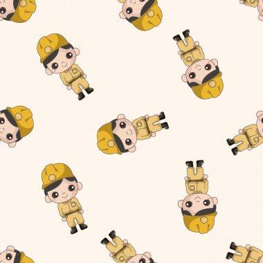Explorers , cartoon seamless pattern background