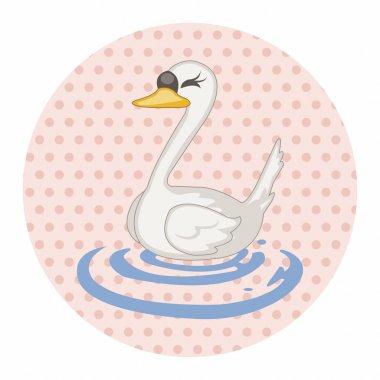 bird swan cartoon theme elements vector,eps