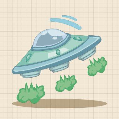 ufo theme elements icon element