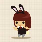 casino playboy bunny theme elements icon element