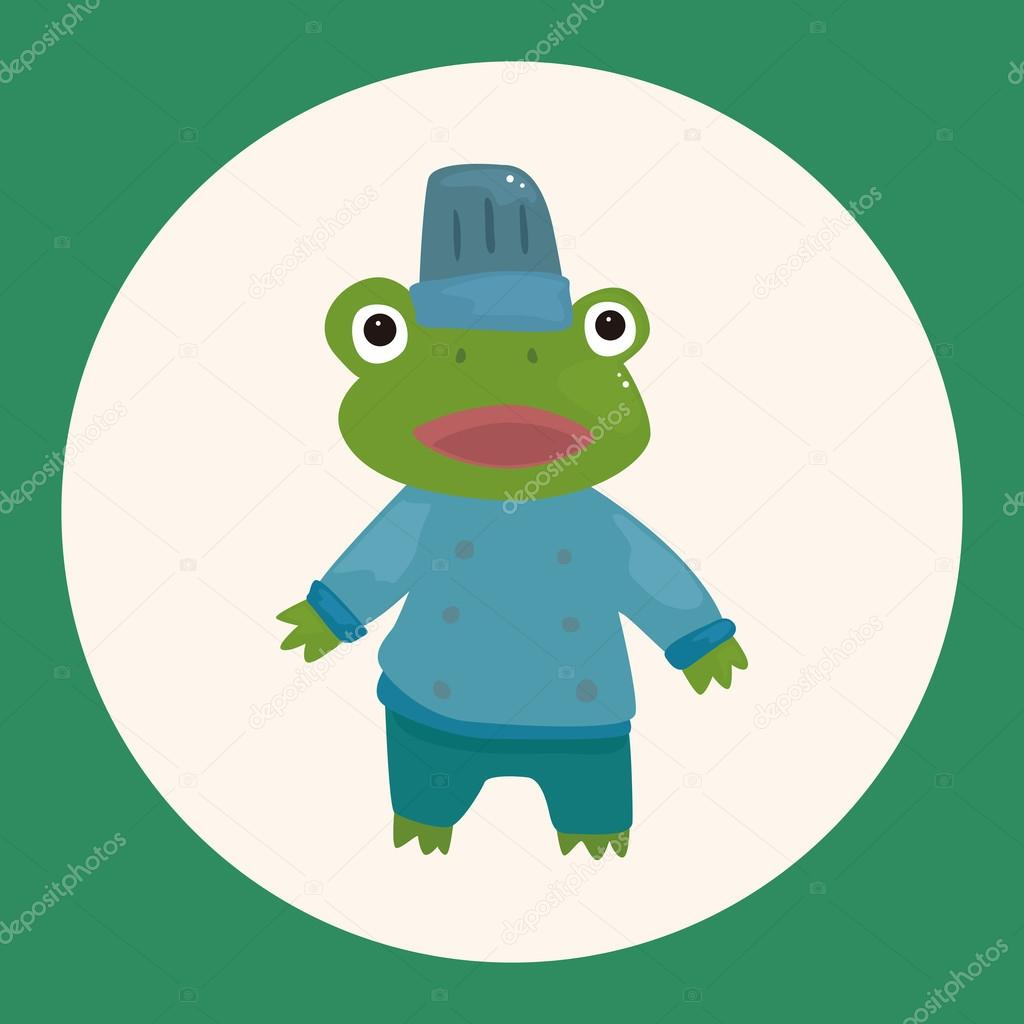 animal frog chef cartoon theme elements icon element stock vector rh depositphotos com Leaping Frog Clip Art Vector The Crocodile