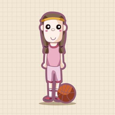 basketball player theme elements