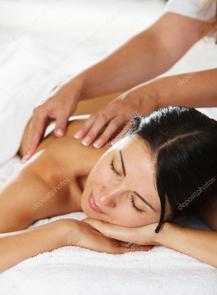 Women having a massage