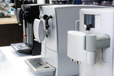 row of coffee machines
