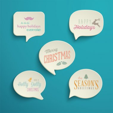 Holiday Speech Bubbles