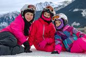 dívky na lyžování
