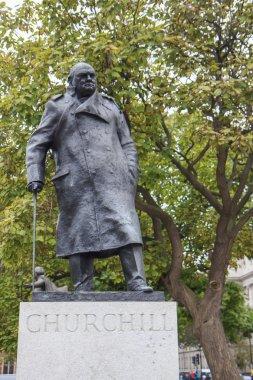 Statue of Winston Churchill in Parliament Square, London