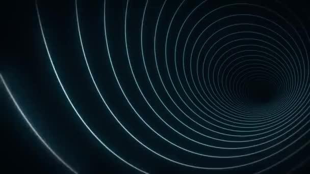 Abstraktní obrys Řetězec Tvary Tunel Pozadí Smyčka / 4k animace abstraktního pozadí s obrysem minimální tvar tunelu pozadí s pruhy bezešvé smyčky