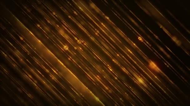 Absztrakt ragyogó arany csillogó csillogó vonalak Háttér / 4k animáció egy absztrakt alá eső arany csillogó vonalak csillogó fx zökkenőmentes hurkolás