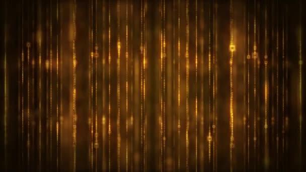 Abstraktní zářící zlaté třpytky jiskřivé čáry Pozadí / 4k animace abstraktní padající zlaté jiskřivé čáry s třpytivou fx bezešvé smyčky