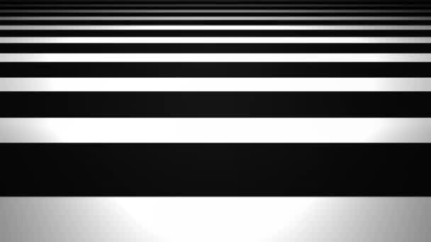 Abstract 3d Minimal Stripes Ambient Background Loop/ 4k animation of an abstract black and white minimal 3d striped background with blur focus seamless looping