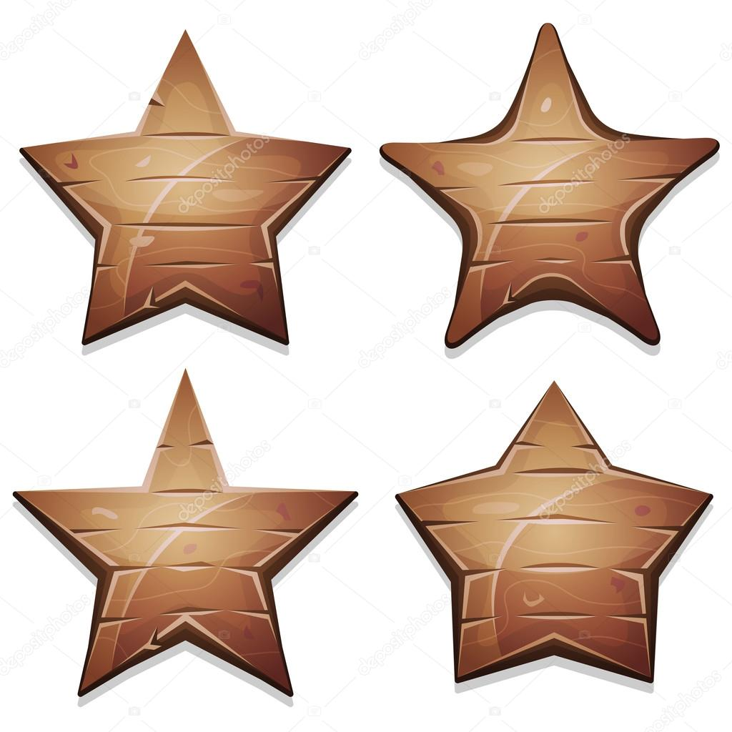 Wood Stars Icons For Ui Game