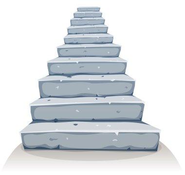 Cartoon Stone Stairs