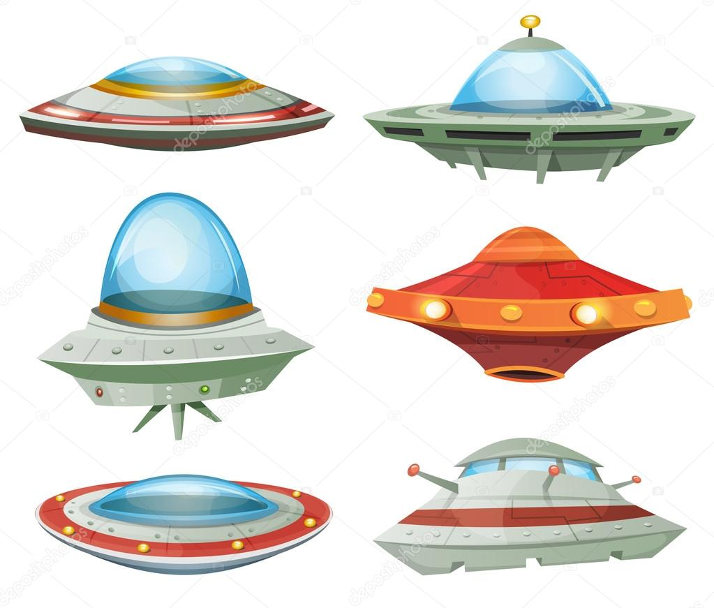 Flying Saucer, Spaceship And UFO Set