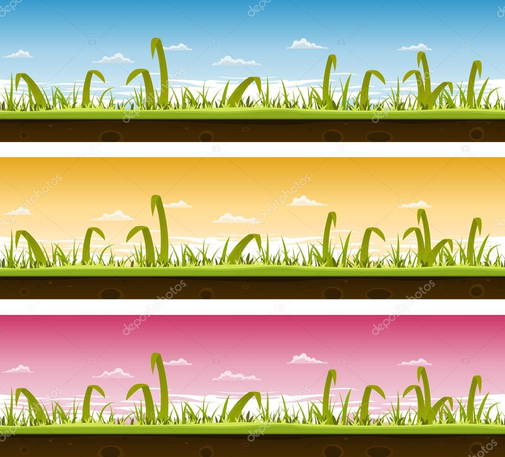 Grass And Lawn Landscape Set