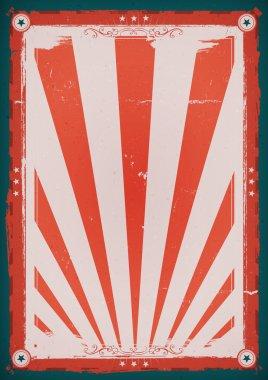 Fourth Of July Vintage Background Poster