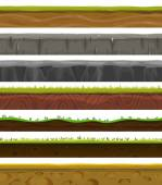 Seamless Grounds, Soil And Grass For Ui Game