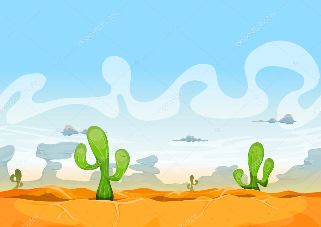 Seamless Western Desert Landscape For Ui Game