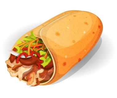 Mexican Burrito Icon