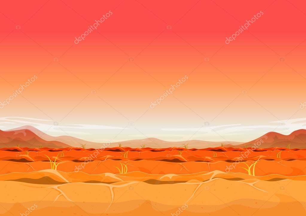 Seamless Far West Desert Landscape For Ui Game