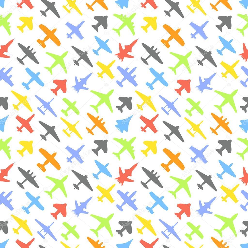 Transporte y Marina de guerra de aviones y jets fondo de color ...