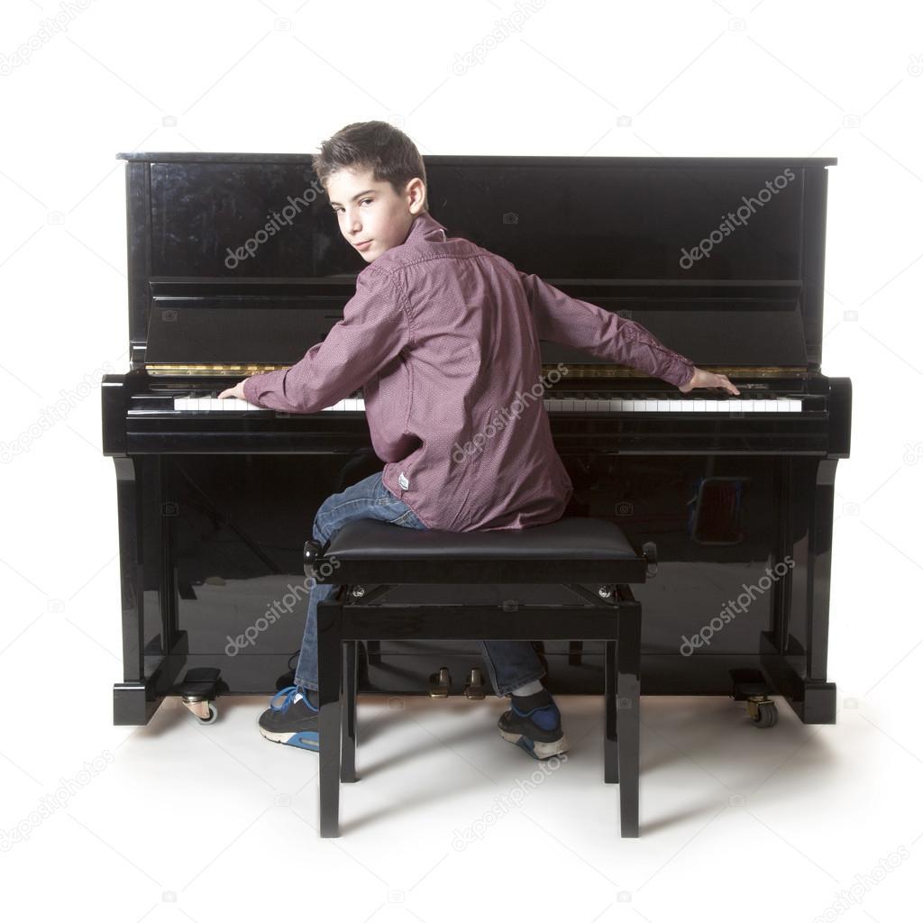 Young black piano players, model sarika nude