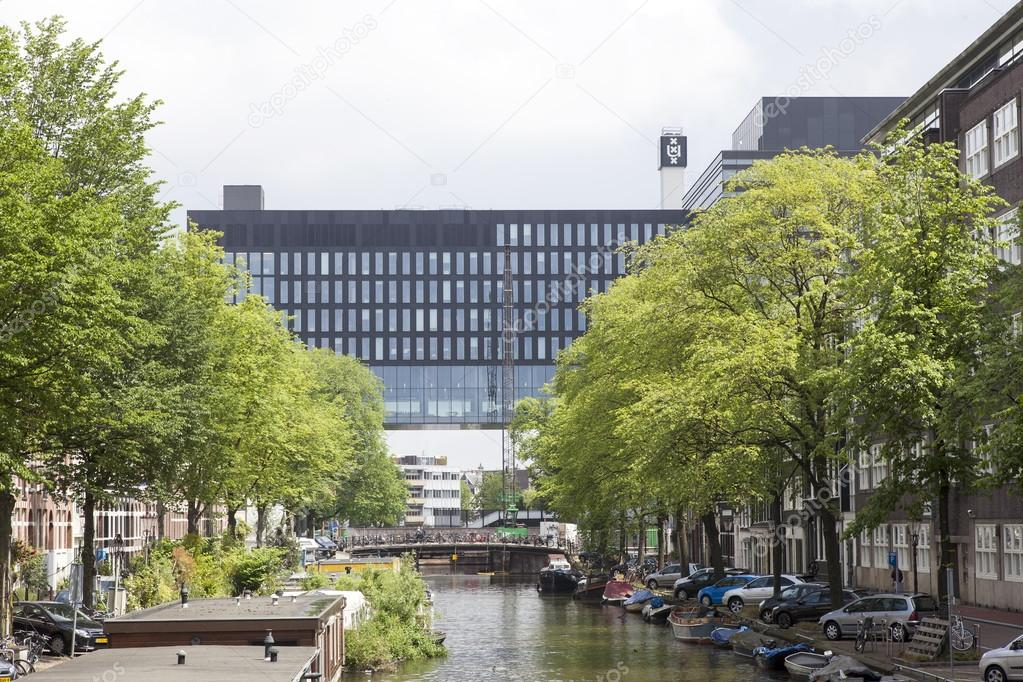 University of Amsterdam on roeterseiland – Stock Editorial