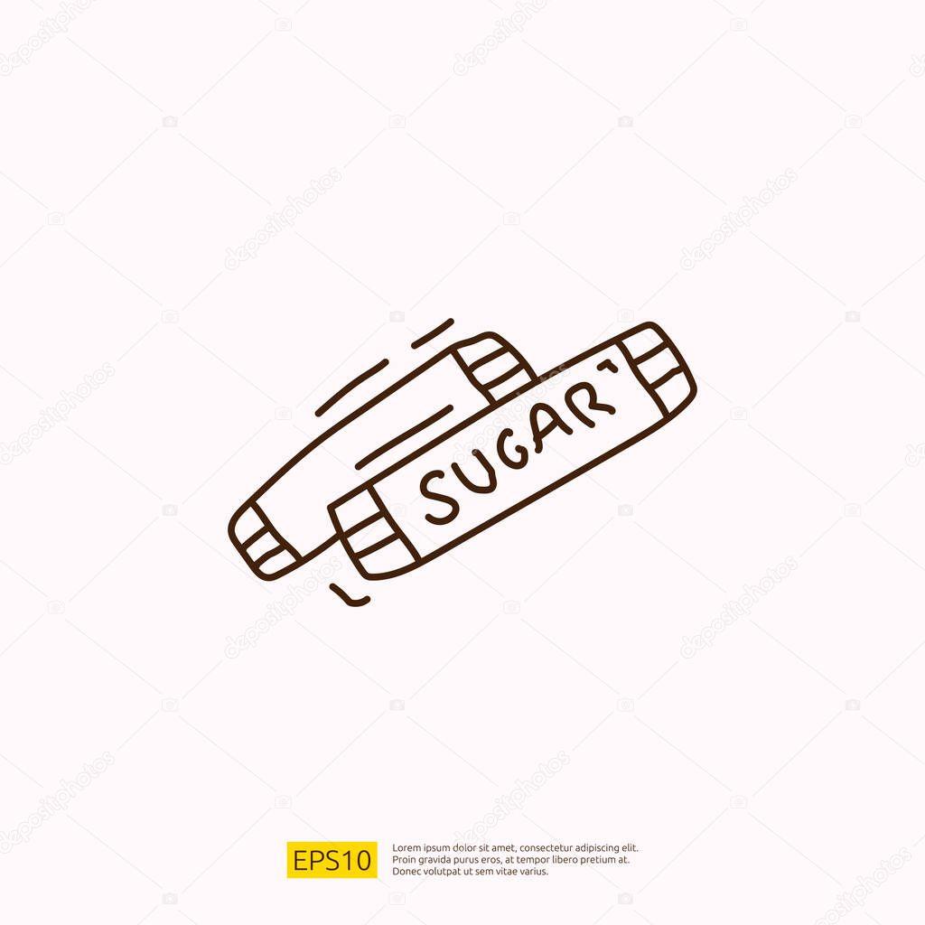 Sugar sachet for cafe concept vector illustration icon